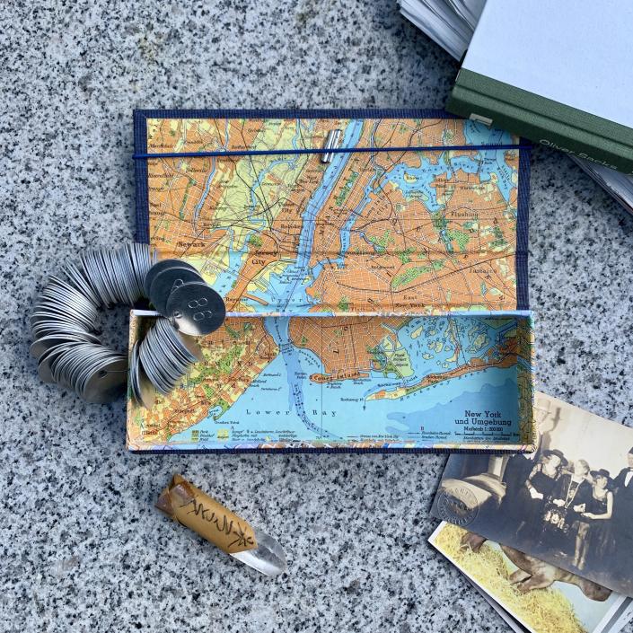 New York Federtasche für den Schreibtisch oder als Etui für einen Gutschein