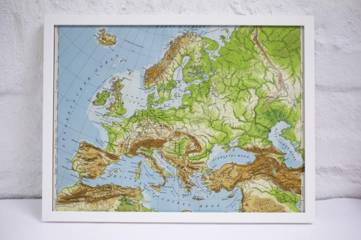 30x40cm Europa Landkarte geografisch
