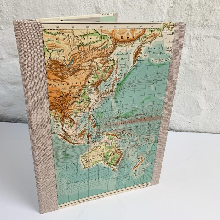 Din A4+ Mappe mit alter Landkarte von Australien
