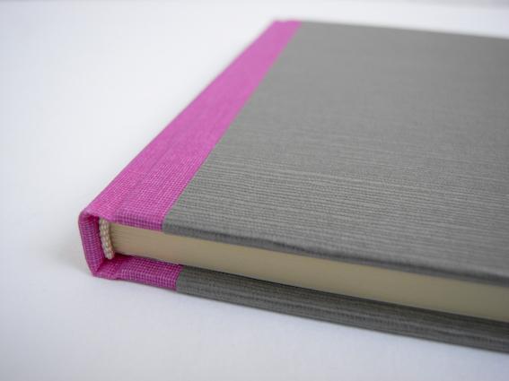 neon pink grau Buchbinderei