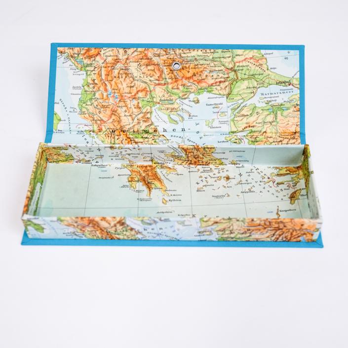 Griechenland Federtasche aus altem Atlas