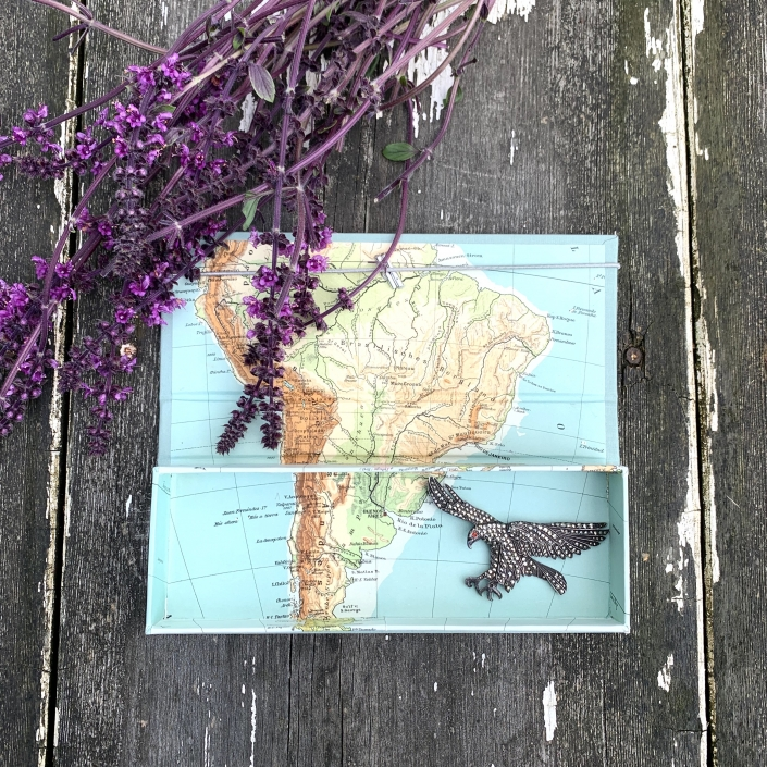 Sehr alte Landkarte von Lateinamerika.