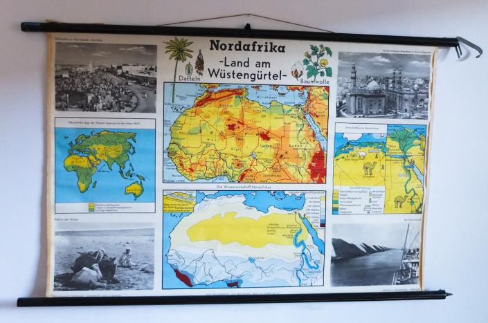 Nordafrika Rollkarte