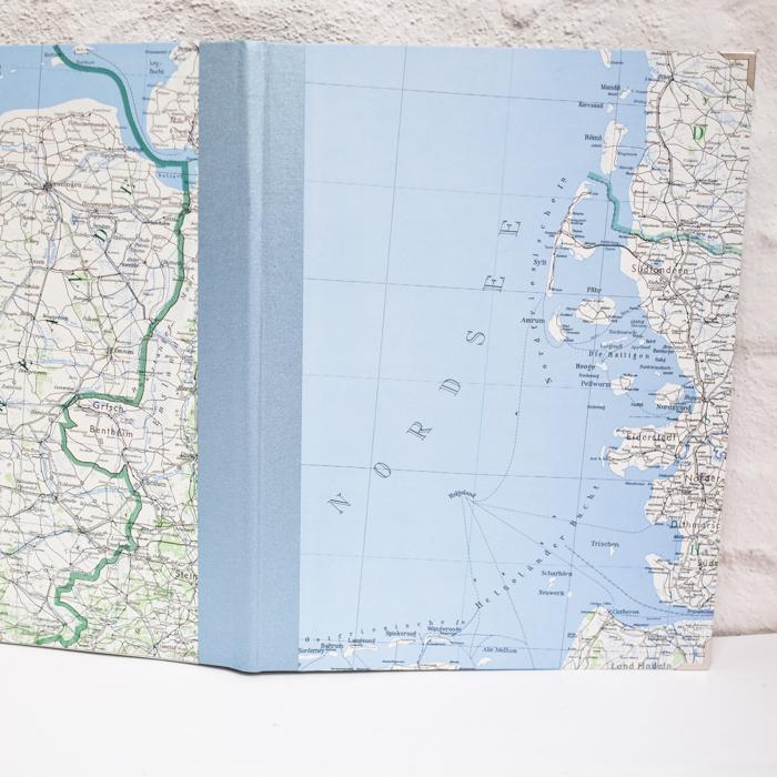 Zeichenmappe mit der Nordsee, Sylt und Helgoland
