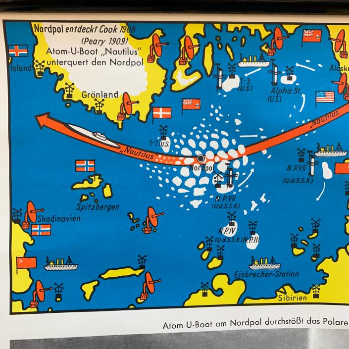 Vintage Schaubild / Schultafel Polargebiete