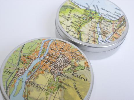 Kairo Stadtplan als Gutscheindose