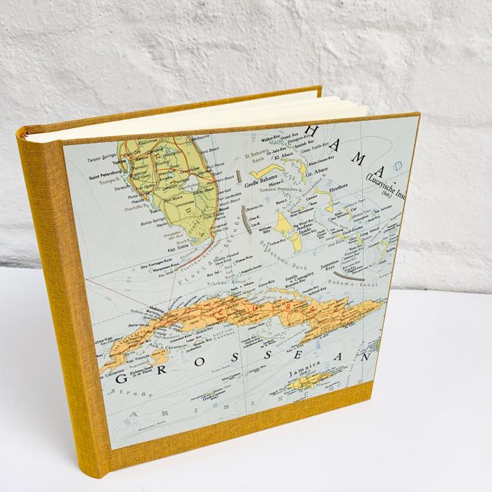 Kuba Album in 22x24 cm mit einem Einband in Senf / Safran