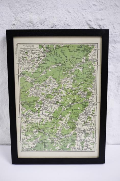 alte Vogesen Landkarte von ca 1860