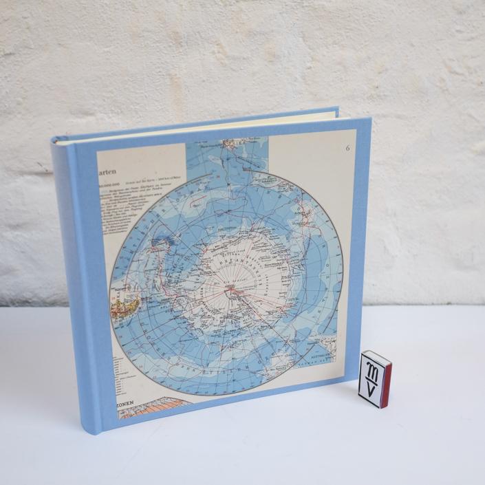 Vorderseite Antarktis Album in Hellblau
