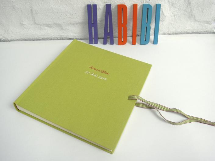 handgebunden Kinderalbum hellgrün