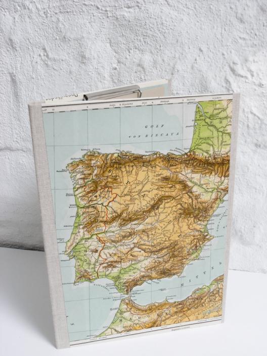 alte Landkarte Spanien, Iberien, A4 Mappe