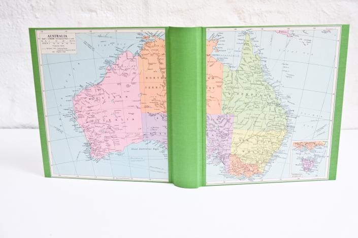 Australien Fotoalbum mit Karte in Pastell