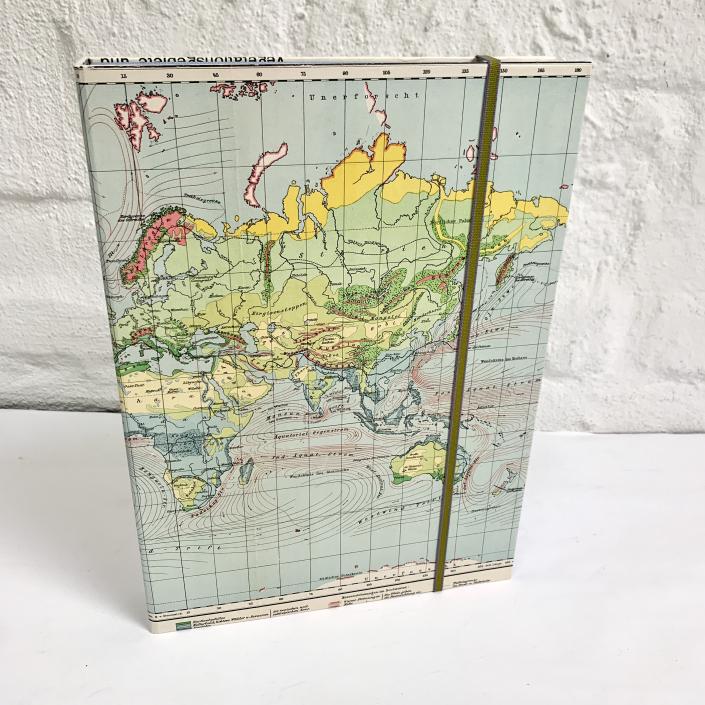 A4 Dokumentenbox Weltkarte mit unerforschten Gebieten