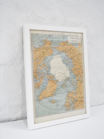 schöne Nordpol Landkarte