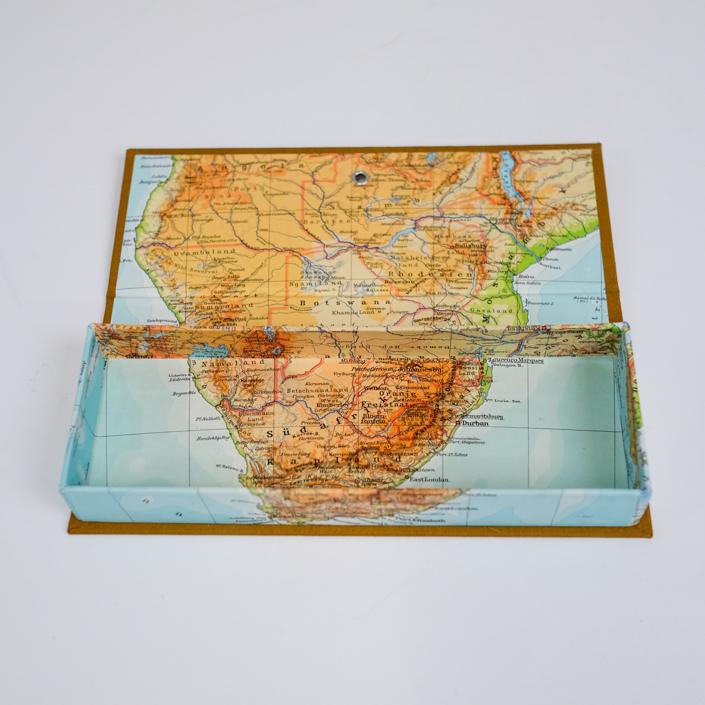 Federtasche mit Südafrika und Kapstadt