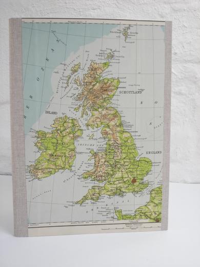 A4 große Mappe mit Irland und England